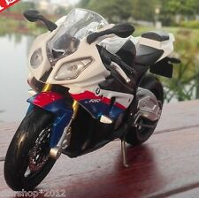Diecast Motorcycle Model Maisto 1/12 BMW S1000RR Blue White Color