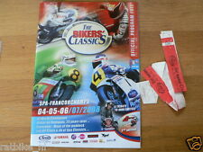 B 2008 THE BIKERS CLASSICS SPA-FRANCORCHAMPS PROGRAMME AND TICKET