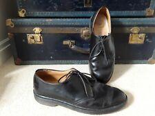 Vintage Mens original Doc Marten shoes DM Dr UK 10 black leather Made in England
