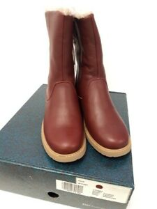 Emu Explorer Kerie Waterproof Leather Sheepskin Mid Rise Boot Size 8 #528