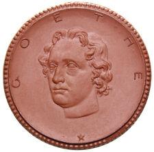 Goethe Weimar GENIO HUIUS LOCI - PROBE Porzellan-Medaille 1921 - Scheuch 2279.a