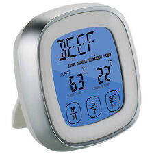 Digital Wireless Meat Kitchen LCD Food Barbecue Cooking Touch Thermometer Timer