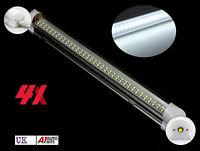 4 PCS POWERFUL 72 LED 12V STRIP INTERIOR LIGHT LAMP CAR CARAVAN BOAT MOTORHOME
