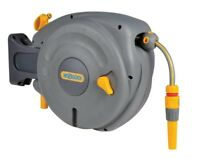 Hozelock 2485 Mini Auto Reel with 10m Hose - Wall Mounted Retractable Hose Reel