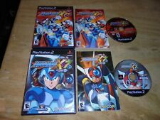 Mega man X7 & Mega Man X8 (Sony PlayStation 2) complete adult own PS2 Tested!!!