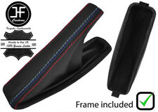 BLACK STITCH LEATHER HANDBRAKE BOOT WITH PLASTIC FRAME FOR BMW E46 99-05 M///