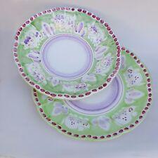Vietri Servizio Piatti 2pz in Ceramica Vietri 100% decorato a mano Verde Pallido