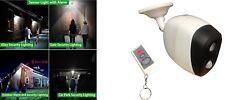 Outdoor Garden / Garage Remote Security PIR Sensor light with Alarm - IP44 Rated