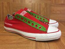 5584575909a9 RARE🔥 Converse Chuck Taylor All Star Christmas Santa s Helper Slip On 8.5  Men s
