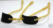 LOT OF 2 REPLACEMENT SLINGSHOT BANDS SURGICAL TUBING LEATHER PAD MAKE YOUR OWN