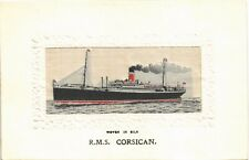 More details for woven silk. rms corsican by stevens. allan line.