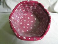 generations Longaberger basket / classic red fabric liner 1998 plastic protector