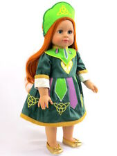 "Irish Step Dance Dress St. Patrick's Day For 18"" American Girl Doll Clothes"