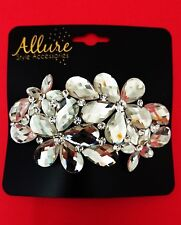 NEW Allure Style Accessories Women's Hairpin Hair Clip 3D Clear Flower Sparkle