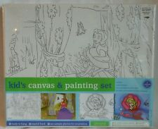 DISNEY BELLE and ARIEL CANVAS AND PAINTING SET