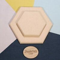 Hexagon Rounded Edge 12mm, 18mm Thick MDF 100mm - 600mm Diameter - Wooden Shape