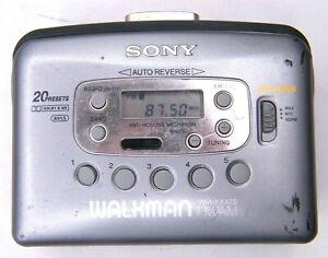 VTG Sony Walkman WM-FX425 Tape Player FM/AM Radio Mega Bass Tested Works