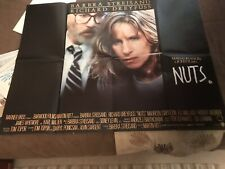 NUTS 1987 Barbra Streisand, Richard Dreyfuss, Maureen Stapleton UK QUAD POSTER