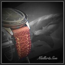 Müller&Son 20 mm Genuine Shark Leather Watch Strap Hadley Roma Deployment Buckle