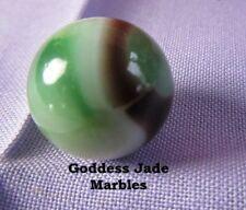 "Antique Vitro Agate Blackie Green/Black 5/8"" Goddess Jade Marbles"