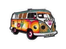 Bügelbild Applikation Aufnäher Hippie Bus #20-086