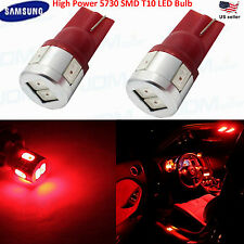 JDM ASTAR 2x Red T10 Wedge LED Marker Signal Brake Light Bulbs 194 168 2825 W5W