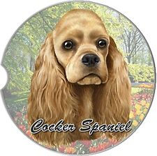Cocker Spaniel Dog Car Coaster Absorbent Keep Cup Holder Dry Stoneware Tan 5587016d307