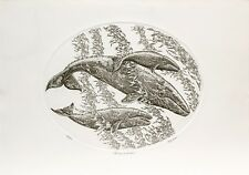 J. D. Mayhew Limited Edition Engraving - Gray Whales