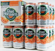 26 Diet Hansen's Orange Premium Soda Zero Calories Sugar Free No Caffeine 12 oz.
