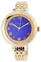 Excellanc Damenuhr Blau Gold Analog Arabische Ziffern Metall Quarz X151003000003
