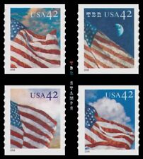 American Flags 24/7 Singles 4232-35 4233 4234 4235 Coil 42c Set 4 MNH - Buy Now