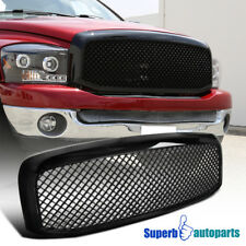 2006-2008 Dodge Ram 1500 2500 3500 ABS Front Hood Mesh Glossy Black Grille