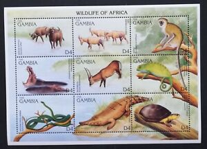 THE GAMBIA-ANIMALS FROM AFRICA-1 M/Sh..MNH**,GHB 19