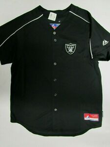 OAKLAND RAIDERS WOMANS JERSEY NEW MAJESTIC COOL BASE SIZE LARGE