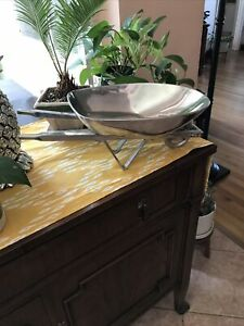 Mariposa Aluminum Wheelbarrow Bowl Centerpiece