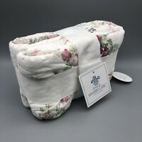 Simply Shabby Chic White Blooming Blossoms Floral Pillow Sham- KING
