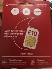 Vodafone Bronze Triple Cut Mobile Phone SIM Cards