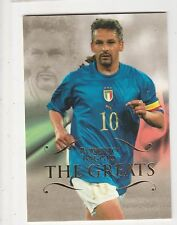 2011 Futera Unique #161 Roberto Baggio The Greats Base Italy