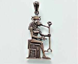 925 Sterling Silver Pendant Sekhmet Lioness God of Egypt Warrior Goddess Lion Pr