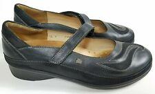 Finn Comfort Glendale Black Leather Mary Jane Shoes Women's Size US 7 D 1489109