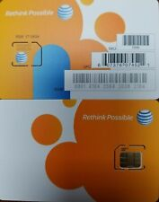 New At&T Go Phone Micro Sim Card 4G Lte Sim Card Unactivated