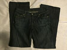 Fidelity Hyacinth Montery Dark Strech Low Rise Flare Jeans Size 28 X 30