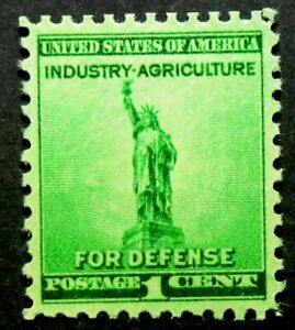 899 MNH 1940 1c Statue of Liberty Industry Agriculture For Defense World War II
