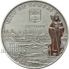 "ZUTPHEN ""City of Towers"" HANSEATIC LEAGUE - Antique Finish Silver Coin 2010 COOK"
