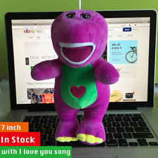 """New Barney & Friend Baby Bop BJ 7"""" Plush Doll Toy with I LOVE YOU Song TOY RARE"""