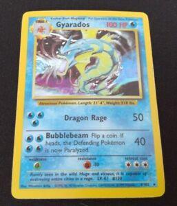 Gyarados Holo Rare Base Set Pokemon Card (6/102)
