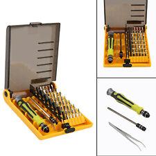 45 in 1 Precision Torx Screwdriver Set Hexagonal Star Tweezer Repair Tool Kit UK