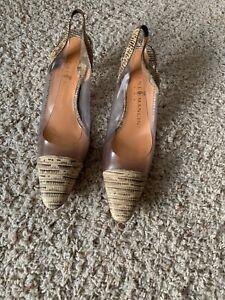 Rene Mancini Slingback Shoes Size 38 1/2
