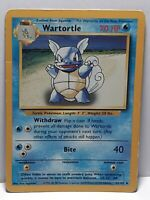 Wartortle 42/102 Base Set Pokemon Damaged Used Uncommon Please See Pictures