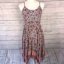 Chloe K Floral Print Dress Bar Back Boho Small Women's Spring Summer